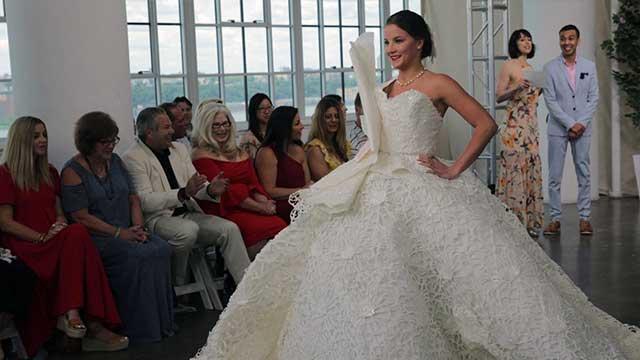 ¡Sí, quiero ese vestido de papel higiénico!